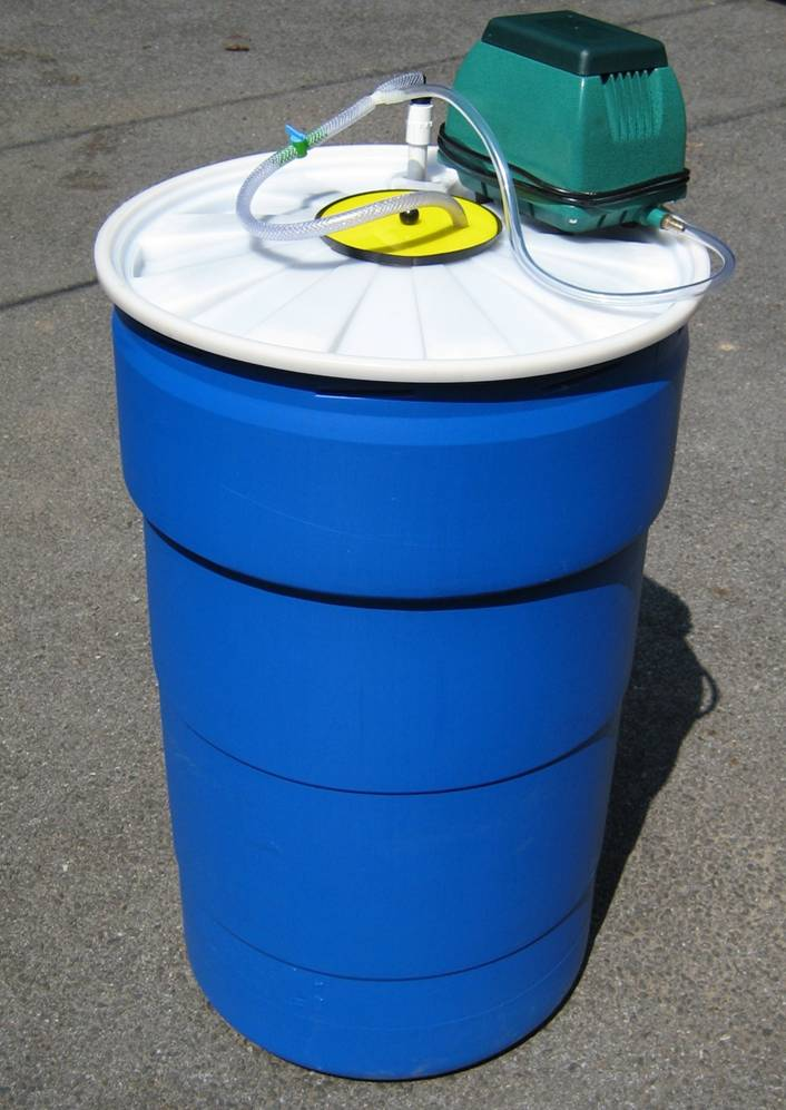55 Gallon Drum Compost Tea Brewer For Liquid Extracts